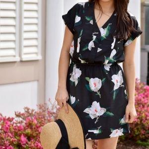 Banana Republic Magnolia Print Pocket Dress